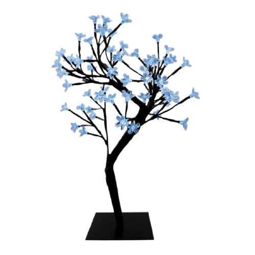 64 LED Light Cherry Blossom Tree Table Decor Blue LEDs