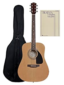 Fender FA-100 Acoustic Guitar with Gig Bag and The Beatles Complete - Easy Guitar Songbook