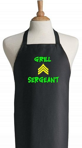 Grill Sergeant Black Barbeque Aprons For Outdoor Cooking