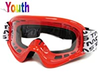 TMS® Youth Red Spider Net Dirt Bike Atv Motocross Helmet W/goggles/gloves (Medium) from T-Motorsports
