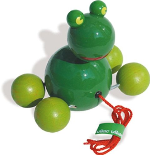 Vilac Pull Toy, Baby Yabon The Frog