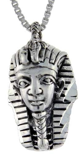 Sterling Silver Egyptian King Tut Mask Pendant, 13/16 in. (21mm) long