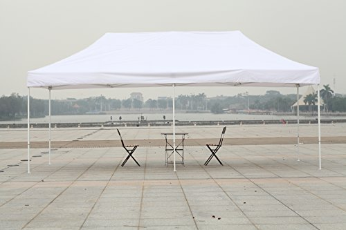 American Phoenix 10x10 10x15 10x20 [White Frame] Portable Event Canopy Tent, Canopy Tent, Party Tent Gazebo Canopy Commercial Fair Shelter Car Shelter Wedding Party Easy Pop Up (White, 10x20) (10x20 Canopy Commercial compare prices)