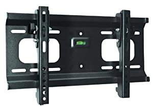 "Ultra-Slim Black Adjustable Tilt/Tilting Wall Mount Bracket for Vizio VA320E 32"" inch LCD HDTV TV/Television - Low Profile"