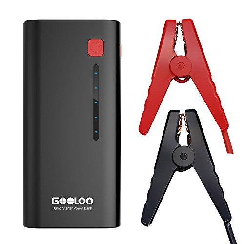 GOOLOO 600A Peak Portable Car Jump Starter Phone Power Bank (Up to 6.5L Gas or 5.0L Diesel Engine) Auto Battery Pack Booster Charger with LED Light (Small Battery Jump Starter compare prices)
