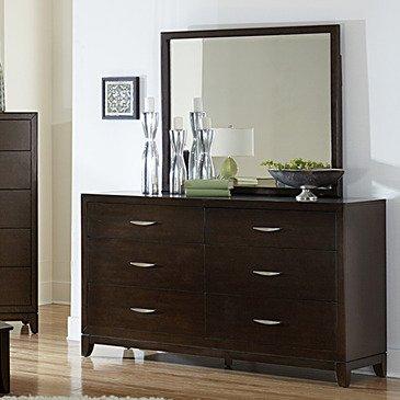 Homelegance Starling 6 Drawer Dresser w/ Mirror in Dark Cherry