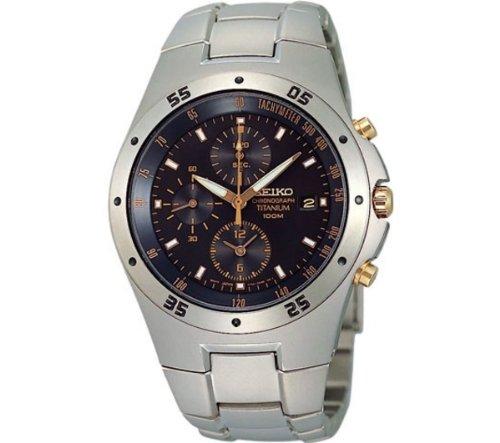 Seiko Titanium Chronograph Mens Watch SND451