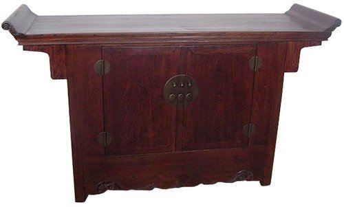 Cheap Unique Rustic Furnishings – 69″ Refurbished Chinese Elm Antique Buffet Server Cabinet (ANT-PX123)