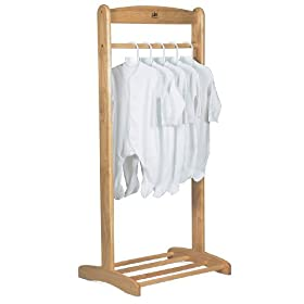 Pine clothes rail for babies room