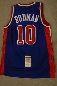 DENNIS RODMAN SIGNED AUTO DETROIT PISTONS JERSEY !! JSA AUTOGRAPHED by Sports+Memorabilia