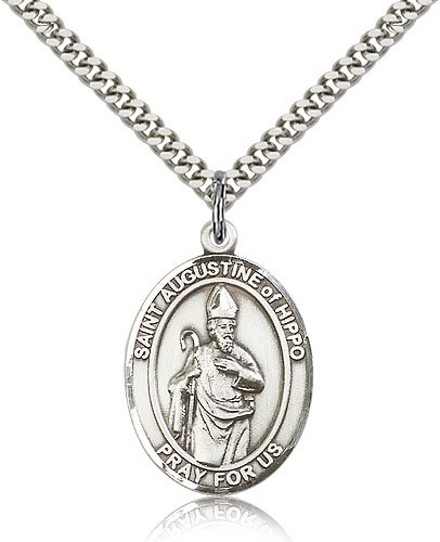 Sterling Silver St. Augustine of Hippo Pendant