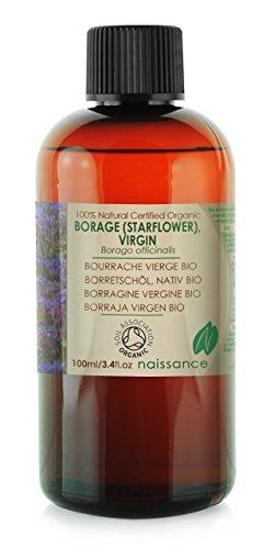Olio di Semi di Borragine Vergine Biologico - Olio Vettore Puro al 100% - 100ml