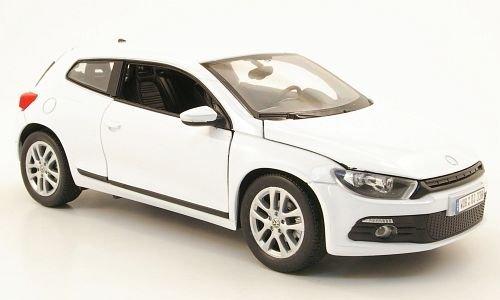 VW-Scirocco-3-weiss-Modellauto-Fertigmodell-Welly-124