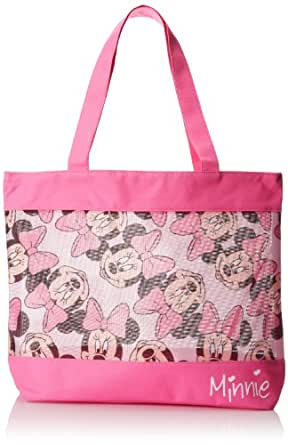 Disney Little Girls'  Minnie Mouse Beach Swim Tote Bag, Pink, One Size