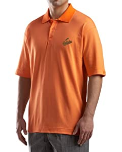 MLB Baltimore Orioles Mens Drytec Resolute Polo Knit Short Sleeve Top by Cutter & Buck