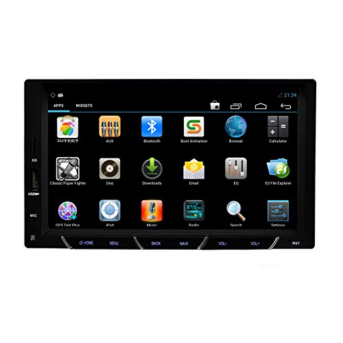 New Headunit Android 4.2 In Dash Car Radio Stereo Audio with GPS Navigation Capactive Touch Screen Blueooth Support 3G Internet WIFI 7 Inch Car Video Player Double 2 Din NO DVD Player (Perpetual Sliding Calendar compare prices)