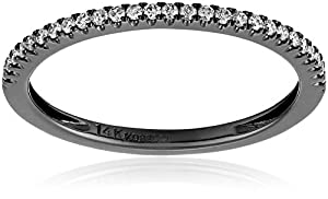 Kobelli Noir Round Diamond Band , Size 7 (1/5 cttw, H-I Color, I1-I2 Clarity)