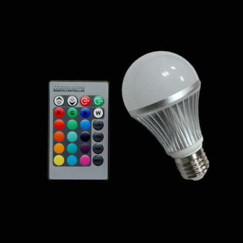 E27 5W Rgb Multicolored Remote Control Led Rgb Light Bulb 16 Color Rgb Led Light Bulbs (85~265V)
