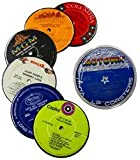 Recycled Vinyl Record Label Coasters - Assorted Albums by Vinylux