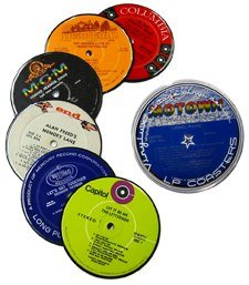 Vintage Record Coasters – Upcycled Vintage Vinyl LP Records – Set of 6 Coasters By Vinylux