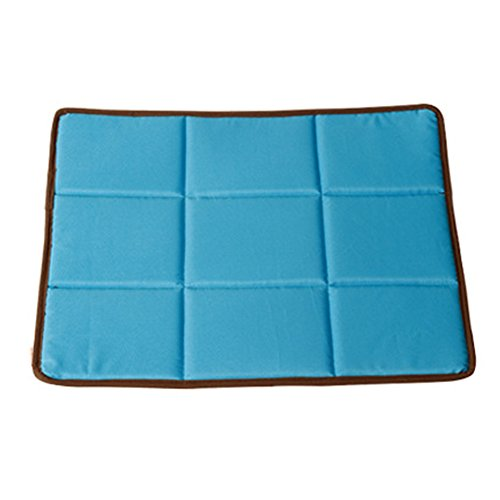 Loghot Three kinds of Use Pet House Cool Sleeping Mat Pad for Dogs and Cats Breathable Summer Heat No Static Bed Cushion (S-22.1×16.6 in, Blue)