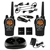 Midland GXT1000VP4 36-Mile 50-Channel FRS/GMRS Two-Way Radio Pair Black/Silver Dual Desktop Charger Audio, Music