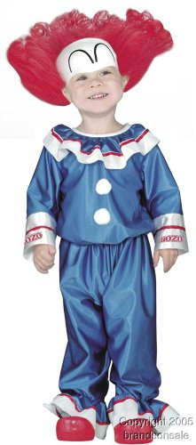 Child's Toddler Bozo the Clown Halloween Costume (1-2T)
