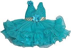 Be BeBo Girl's Cotton Dress (855, Green, 1 Year )