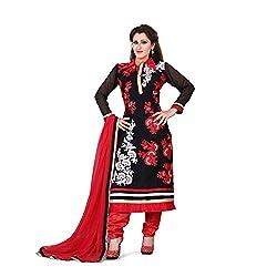 shreepati sarees Black Georgette Embroidered Work Festive Wear Salwar Suit With Dupatta Set