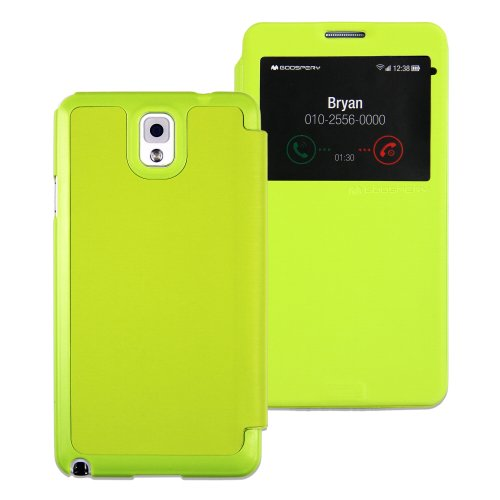 GOOSPERY - Easy View Series Case for Galaxy Note III - (Lime) - EVn3LI