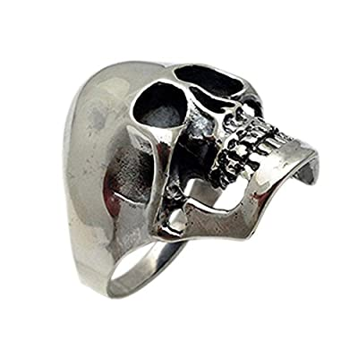 High Quality Sterling Silver Big and Heavy Skull Ring