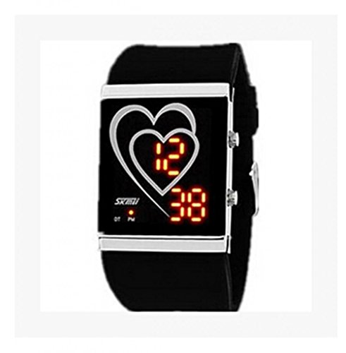 Fashion Creative Heart-Shaped Led Waterproof Watches For Men And Women For Lovers Watch