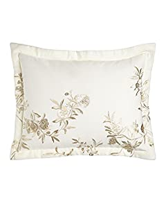 Amazon.com - Fiori King Embroidered Floral Sham, ivory, Size: KING -