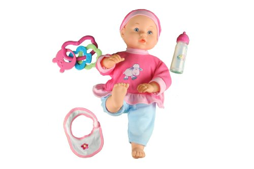 14'' Baby Doll Laughing & Crying Swinging & Kicking. With Magic Milk Bottle and accessories. Amazon.com