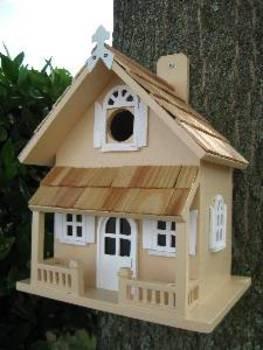 Victorian Cottage Birdhouse, Yellow