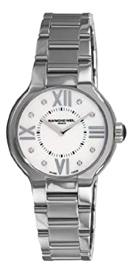 Raymond Weil Women's 5932-ST-00995 Noemia Mother-Of-Pearl Diamond Dial Watch by Raymond Weil