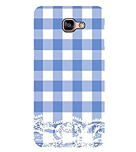 Vizagbeats Blue Checks Pattern Back Case Cover For Samsung Galaxy A9