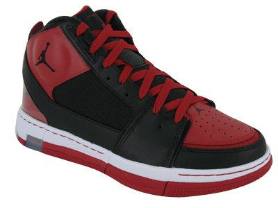 NIKE jordan ol'school 2 blk/blk-vrsty red-wht-cmnt grey T43