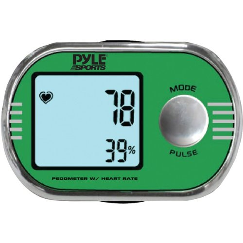 Image of PYLE PPDE60 PEDOMETER WITH PERSONALIZED CALIBRATION FOR WALKING & RUNNING & ECG FINGER TOUCH (B00A9XCV8W)