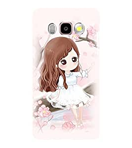 Printvisa Cute Girl Sitting On A Swing Back Case Cover for Samsung Galaxy J5 (2016)::Samsung J510F