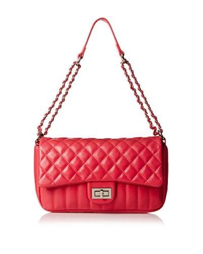 Zenith Women's Flap Over Quilt Shoulder Bag, Fuchsia