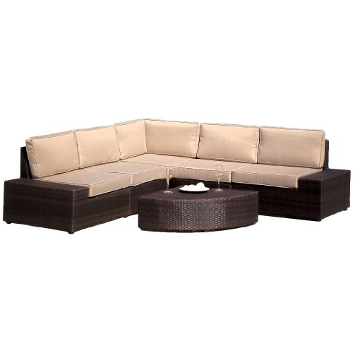 Best Selling  Say Brook PE Wicker Sofa Set