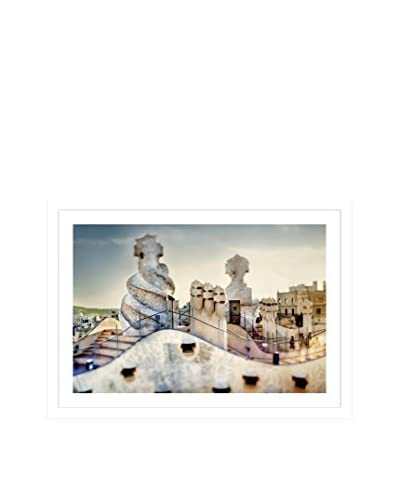 Photos.com by Getty Images Roof Top Of La Pedrera Artwork On Framed Paper
