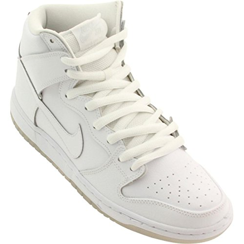 Nike Men's Dunk High Pro SB White/White/Lt Base Grey Skate Shoe 10 Men US
