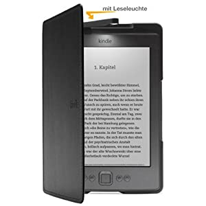 Amazon Kindle Lederhlle mit Leseleuchte, Schwarz