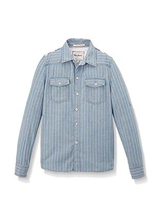 Pepe Jeans London Camisa Niño Main Fashion Pc (Azul)