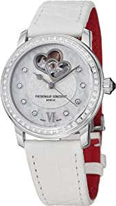 Frederique Constant Automatic Mother of Pearl White Leather Ladies Watch FC-310WHF2PD6 from Frederique Constant