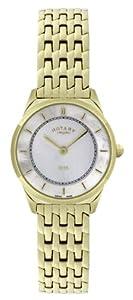 Rotary Women's Quartz Watch Ultraflach LB08002/40 with Metal Strap