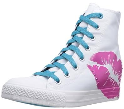 Skechers Women's Gimme-Outta Sight Fashion Sneaker,White,6.5 M US