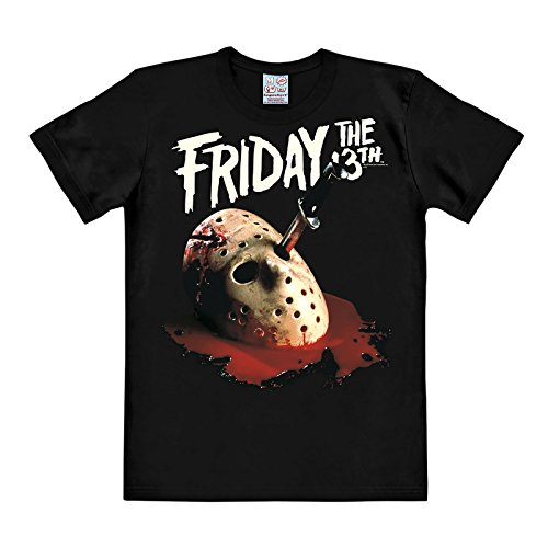 Friday the 13th Jason Mask T-Shirt Black